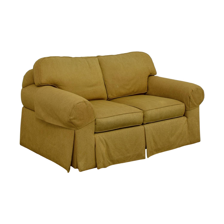 Ethan Allen Ethan Allen Tan Two-Cushion Love Seat