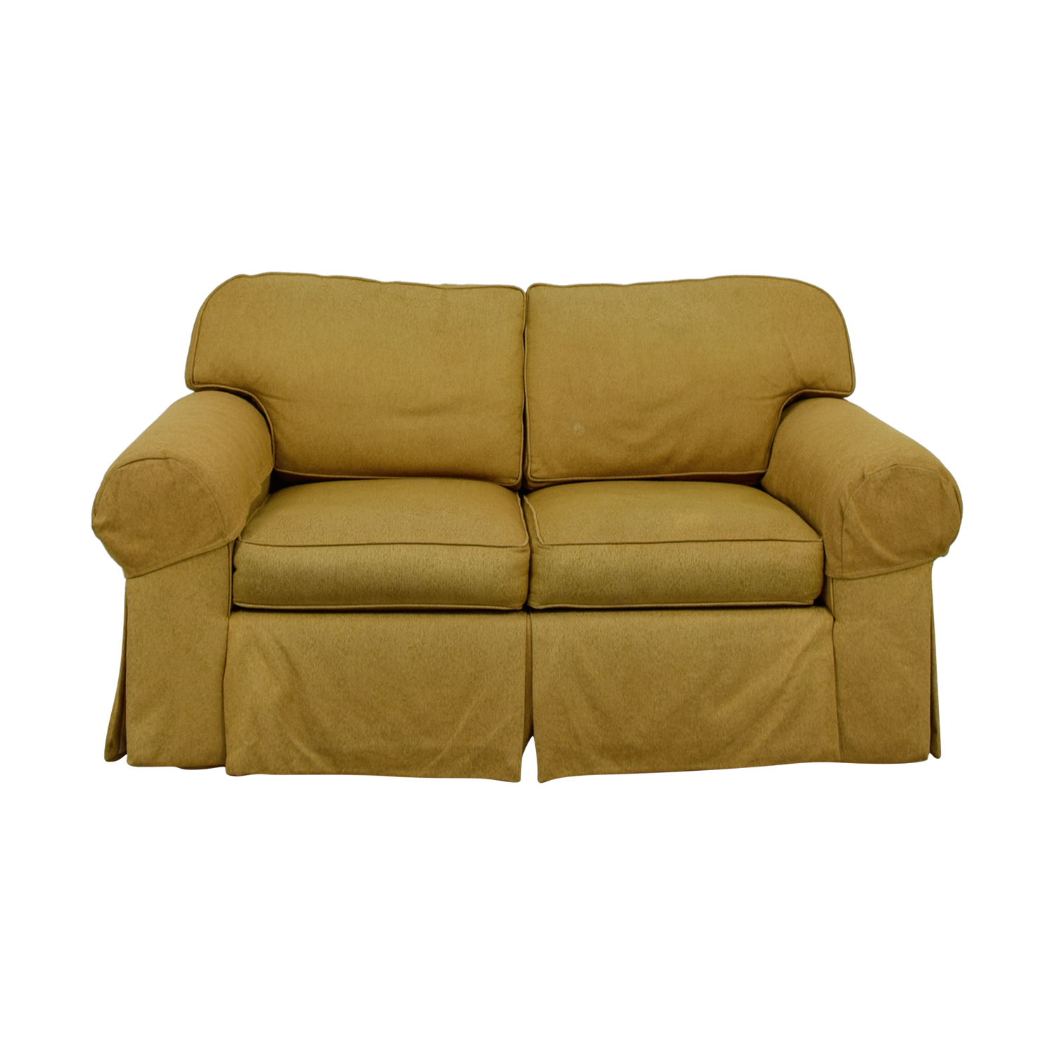 Ethan Allen Ethan Allen Tan Two-Cushion Love Seat on sale