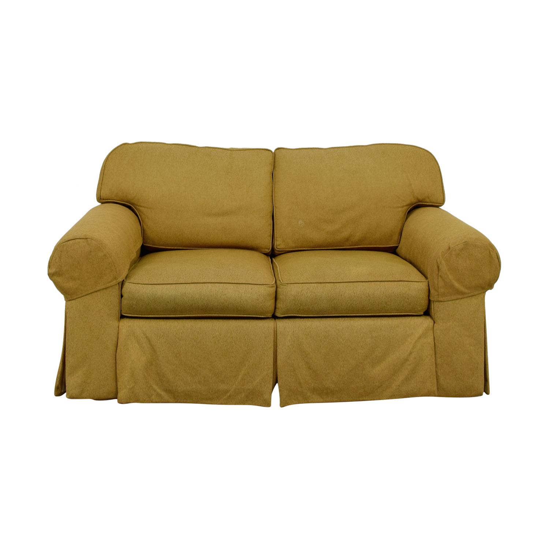Ethan Allen Tan Two-Cushion Love Seat / Loveseats