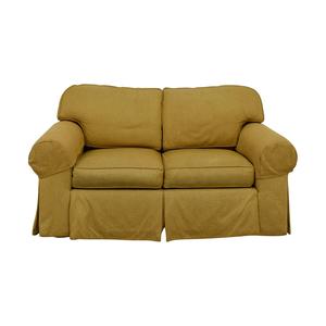 Ethan Allen Ethan Allen Tan Two-Cushion Love Seat discount