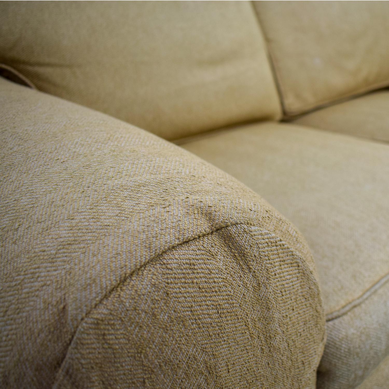 buy Ethan Allen Tan Two-Cushion Love Seat Ethan Allen Loveseats