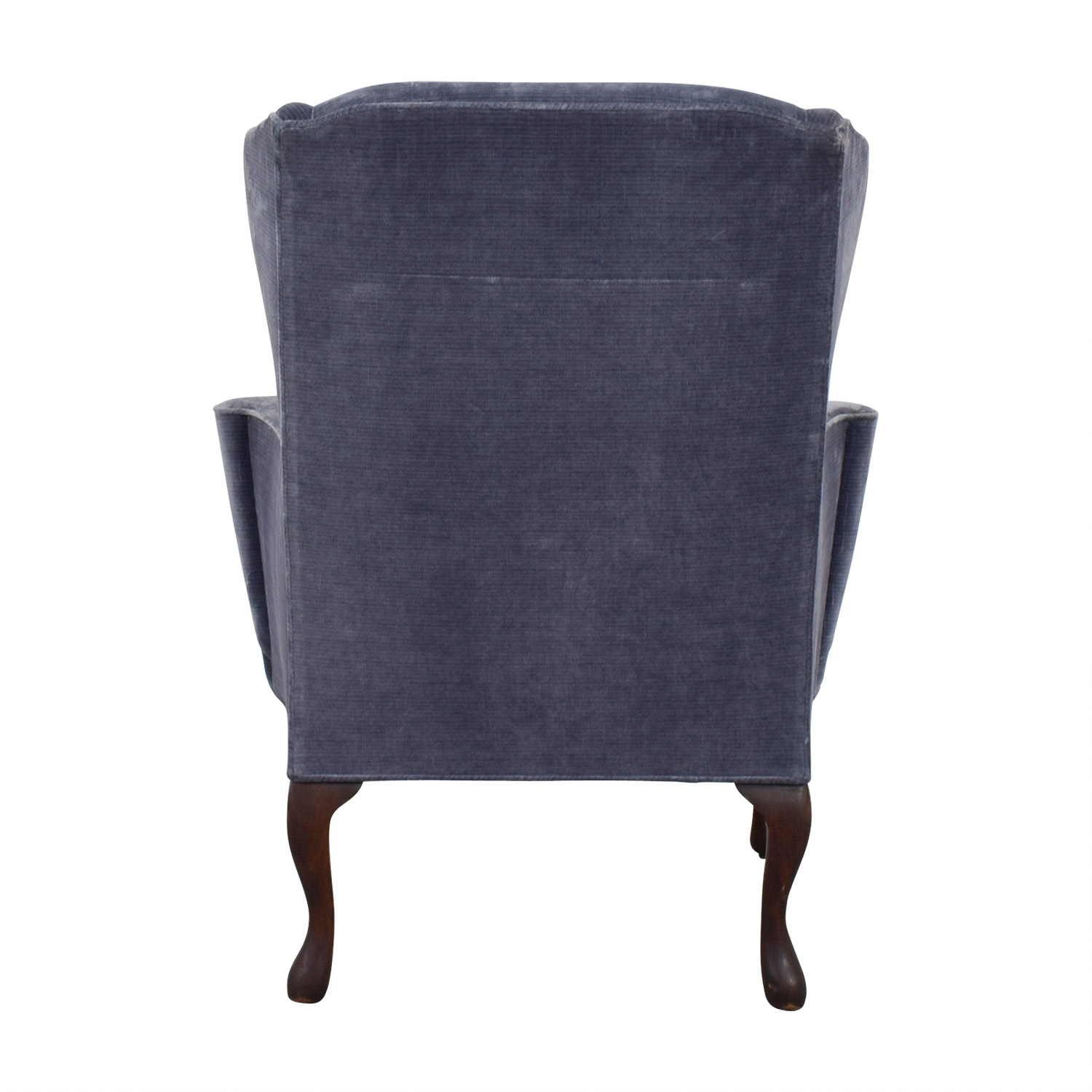 Winged Blue Velvet Accent Chair discount