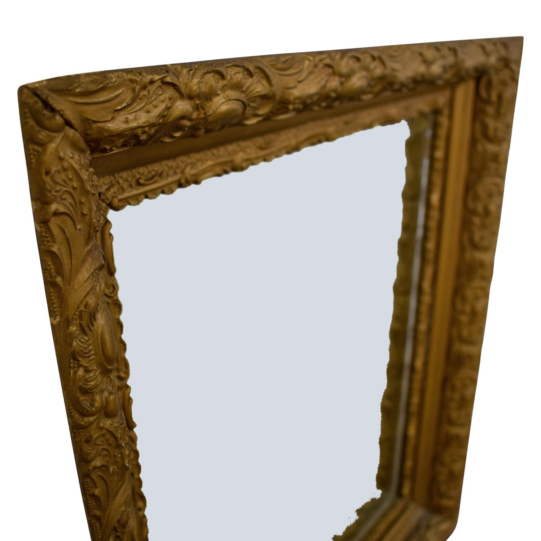 90% OFF - Antique Gold Leaf Frame Mirror / Decor