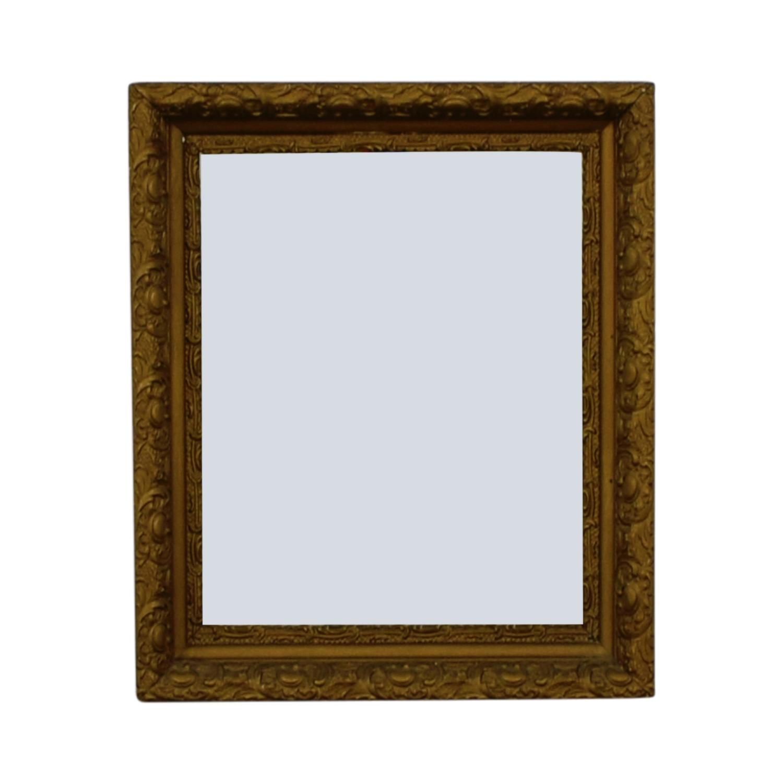 Antique Gold Leaf Frame Mirror sale