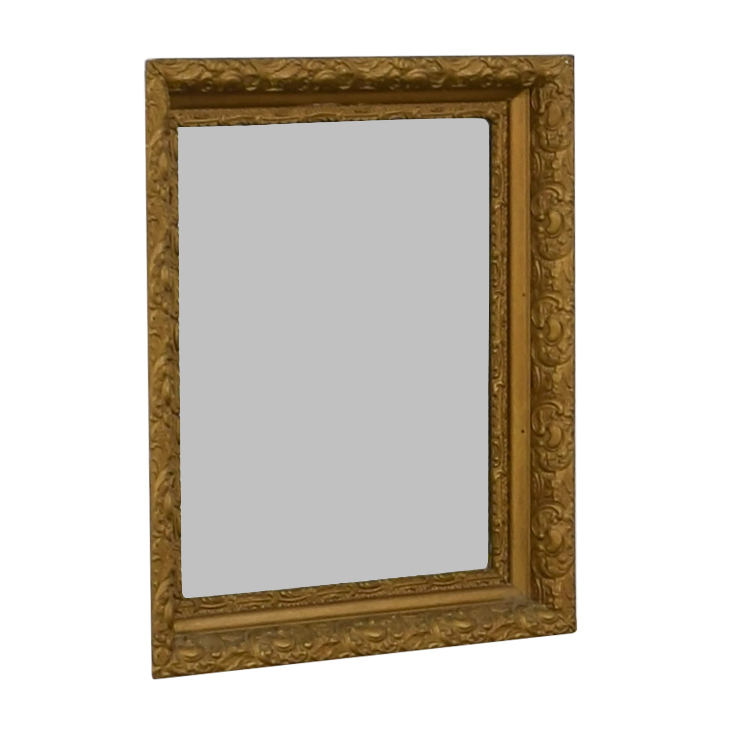 63% OFF - Antique Gold Leaf Frame Mirror / Decor