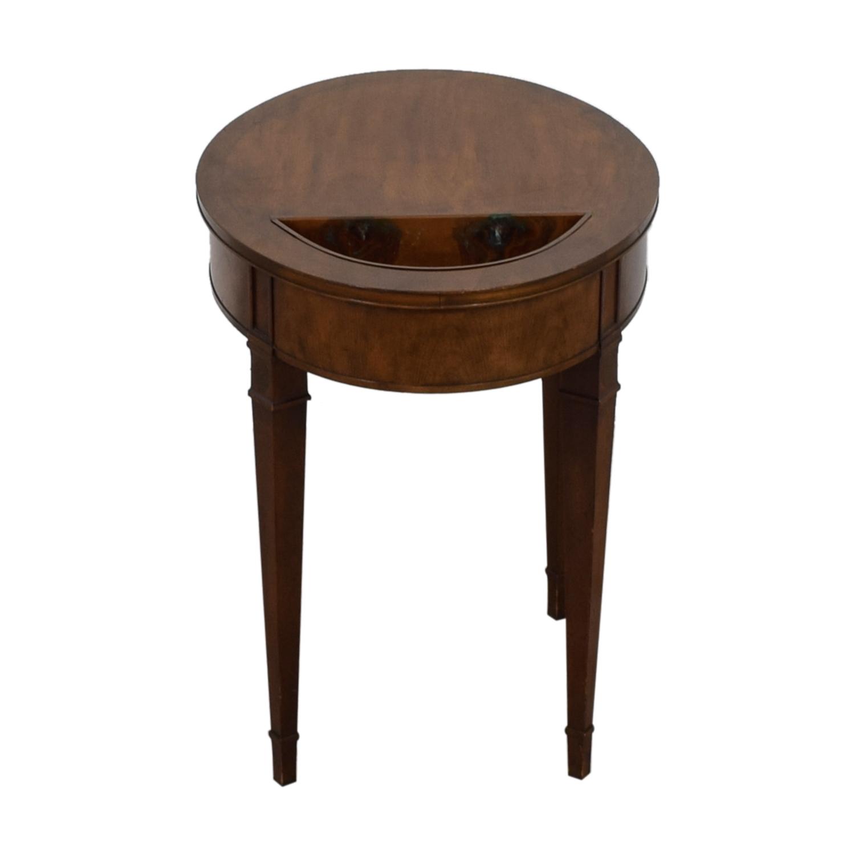 shop Baker Furniture Wooden Oval Top Side Table Baker Furniture Tables