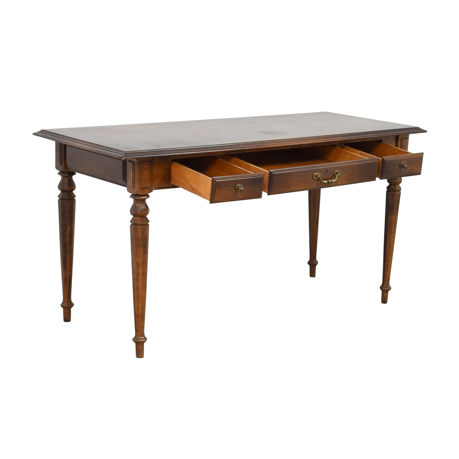 Used Ethan Allen Coffee Tables: Ethan Allen Ethan Allen Three-Drawer Hardwood