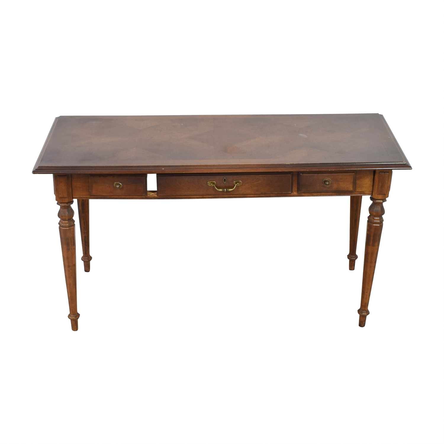 Ethan Allen Three-Drawer Hardwood Desk / Sofas