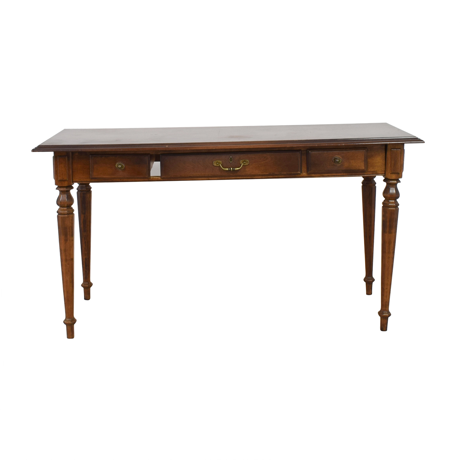 Ethan Allen Ethan Allen Three-Drawer Hardwood Desk for sale