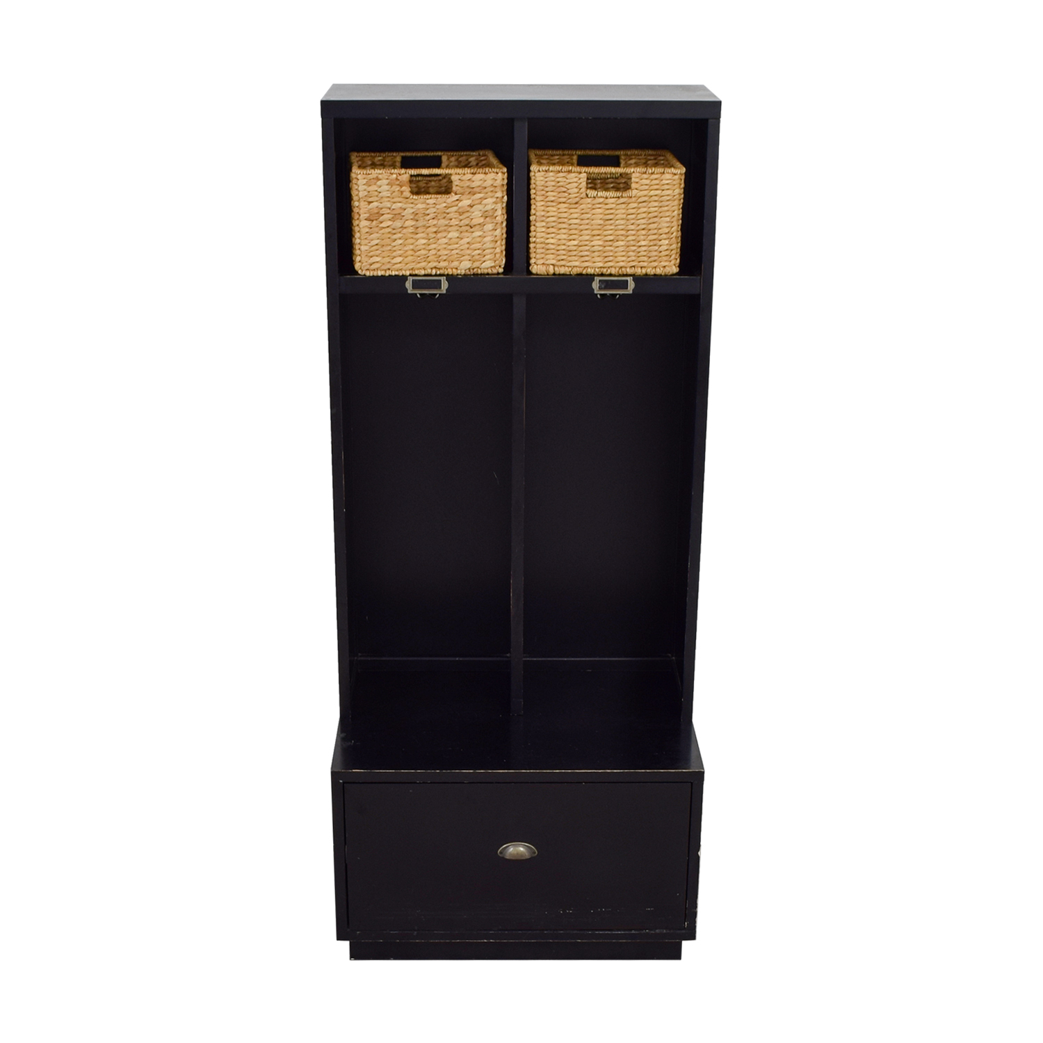 ... Pottery Barn Pottery Barn Single Drawer Mud Room Lockers With Wicker  Baskets Discount ...