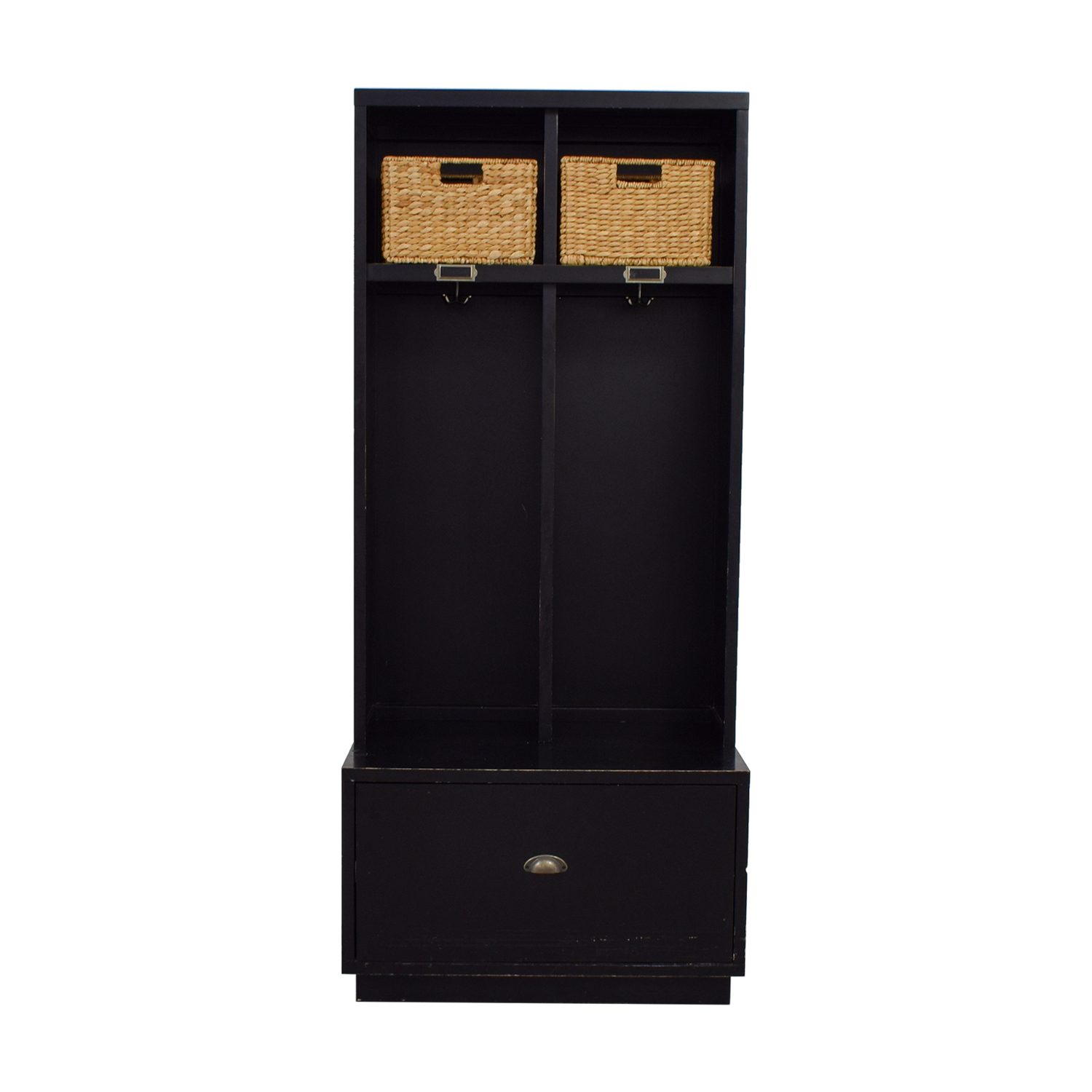 Pottery Barn Pottery Barn Single Drawer Mud Room Lockers with Wicker Baskets Dressers