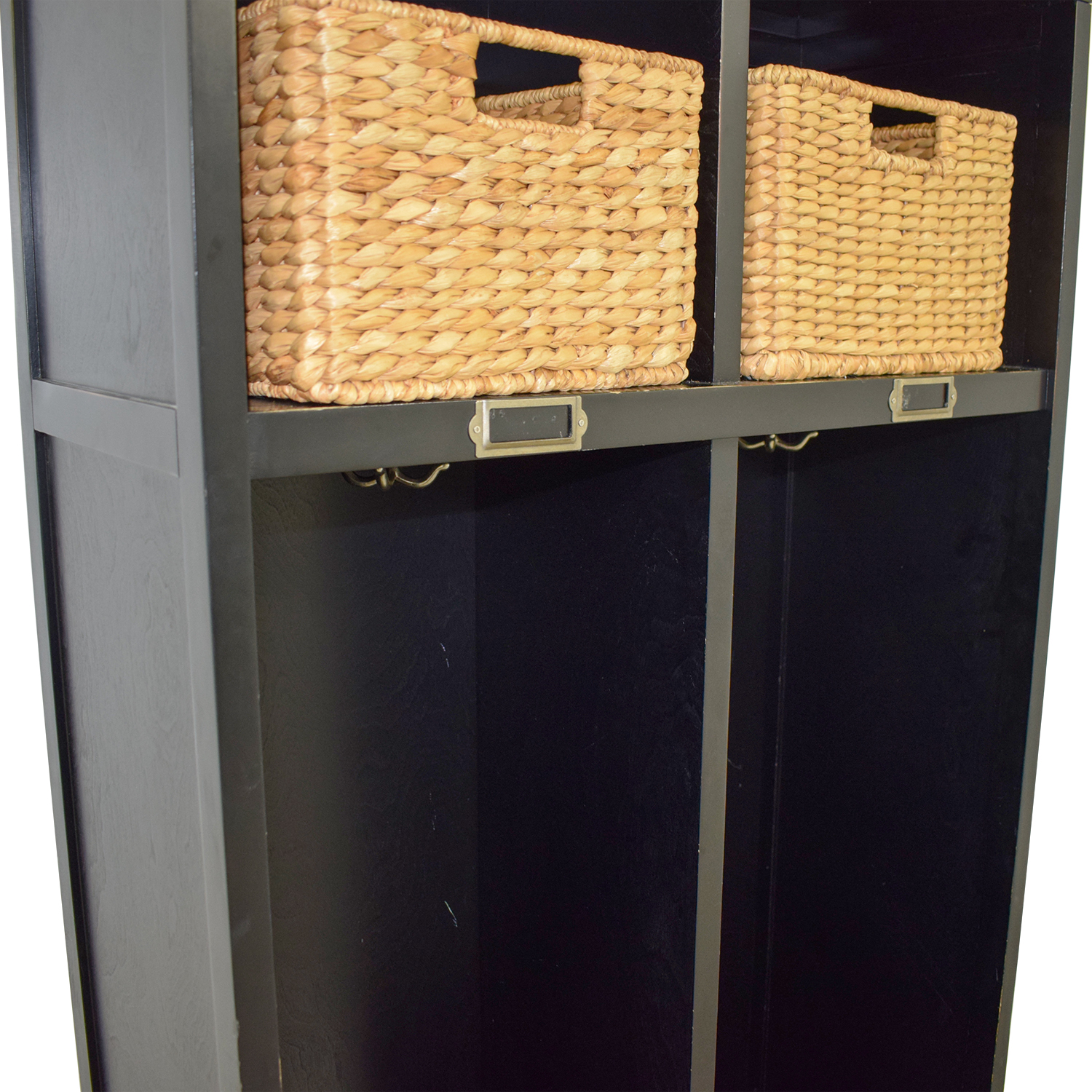 Pottery Barn Pottery Barn Single Drawer Mud Room Lockers with Wicker Baskets dimensions
