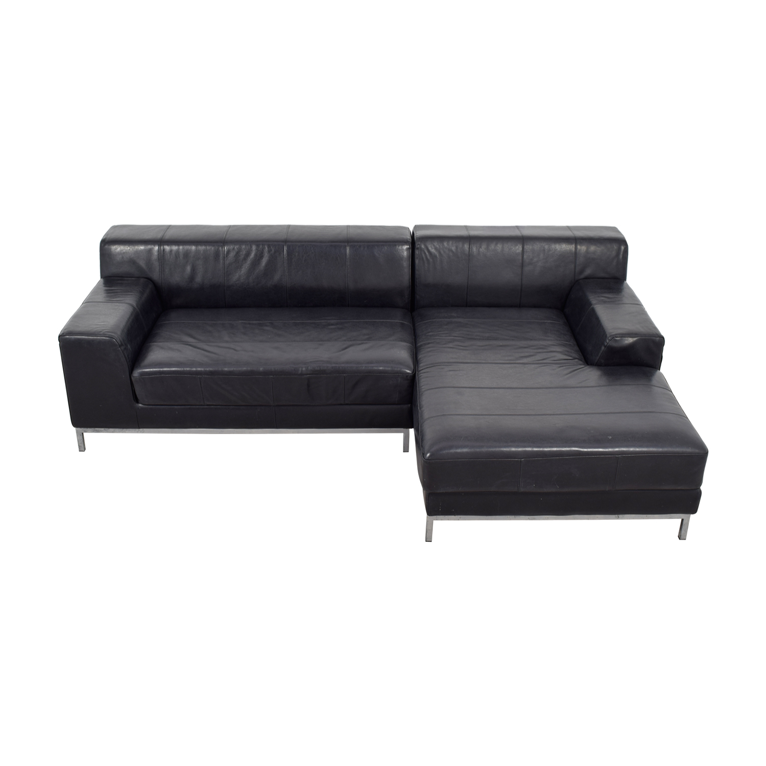 IKEA Black Chaise Sectional sale