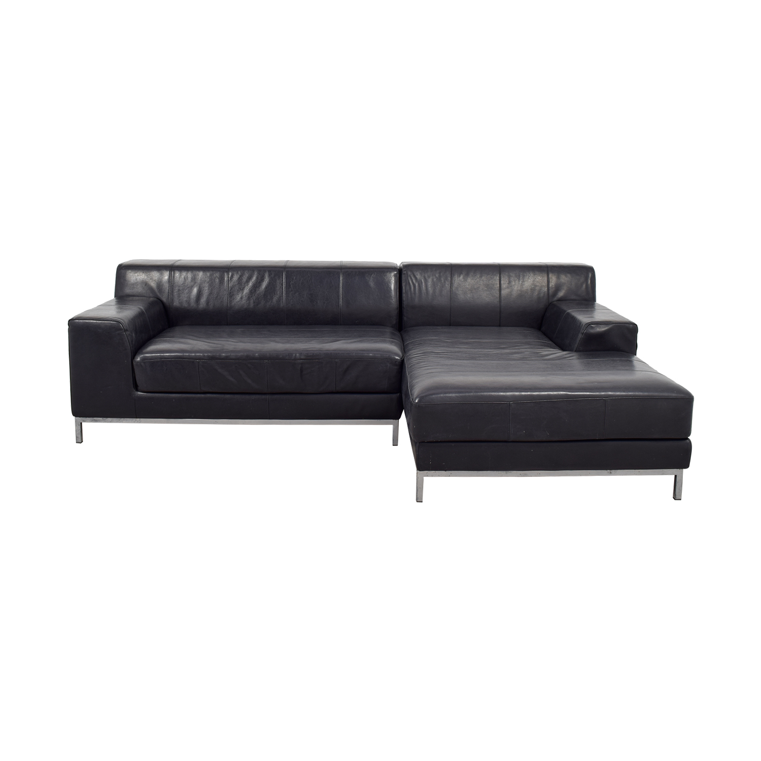 IKEA IKEA Black Chaise Sectional used