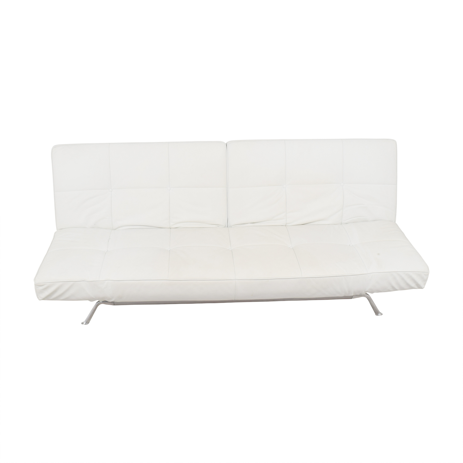 Ligne Roset White Leather Couch / Sofas