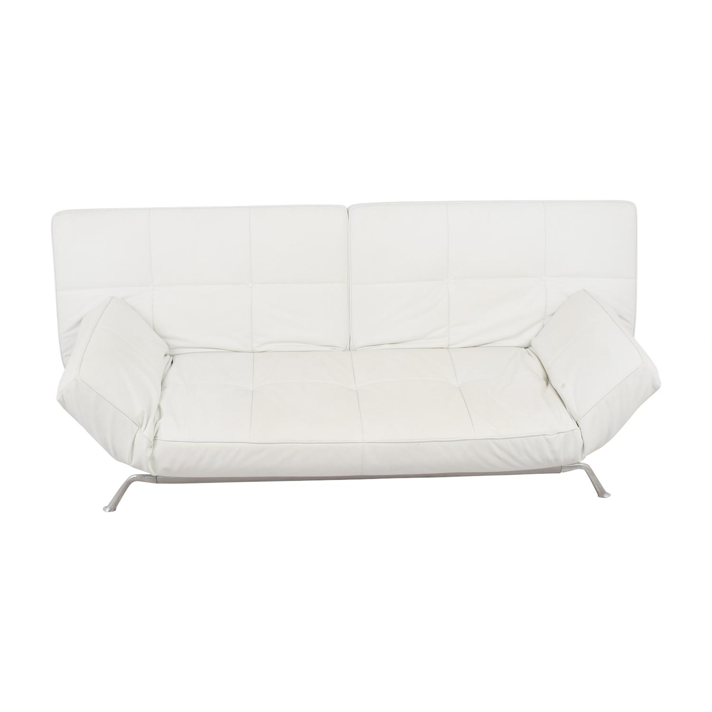... Ligne Roset Ligne Roset White Leather Couch Classic Sofas ...