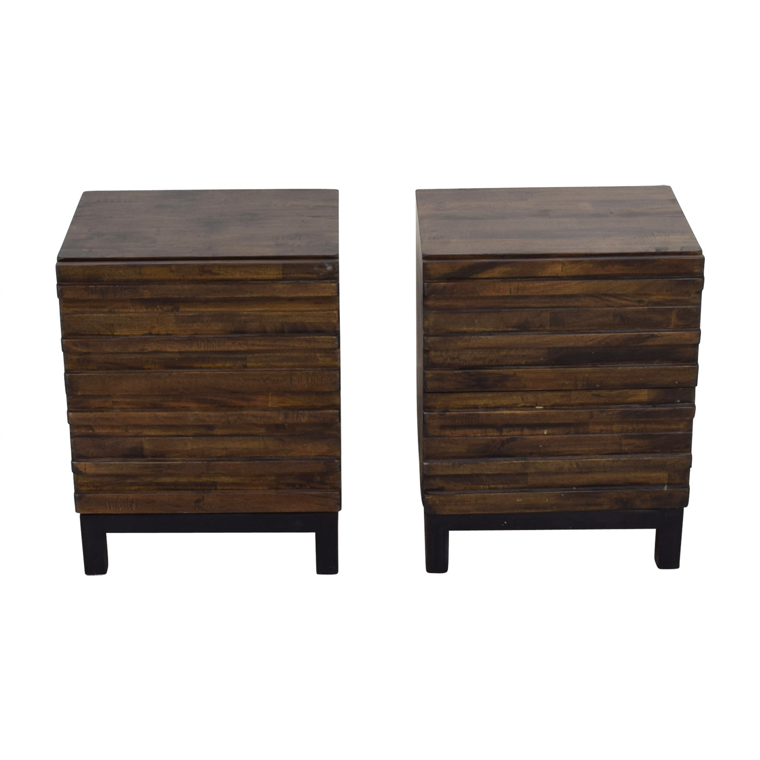 Raymour & Flanigan Raymour & Flanigan Nara Sahara Two-Drawer End Tables price