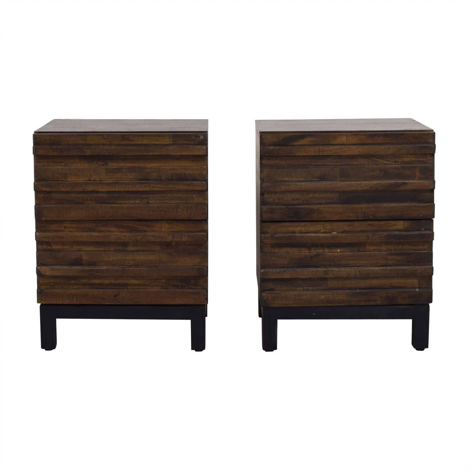 Raymour & Flanigan Nara Sahara Two-Drawer End Tables / Tables