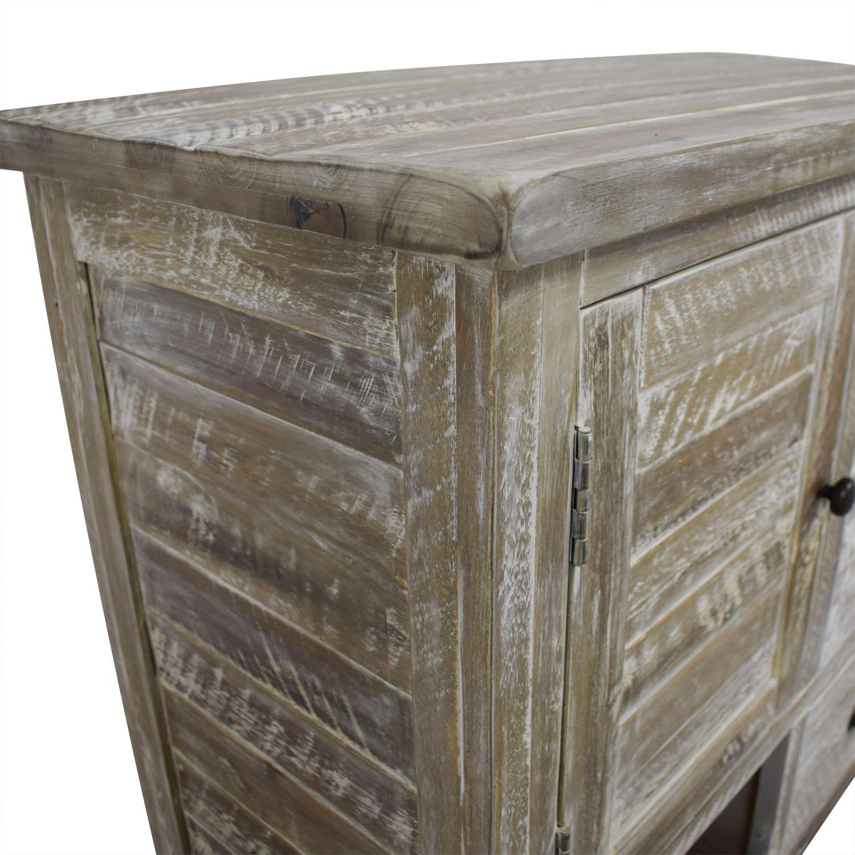 . 72  OFF   Distressed Wood Three Drawer Storage Cabinet   Storage