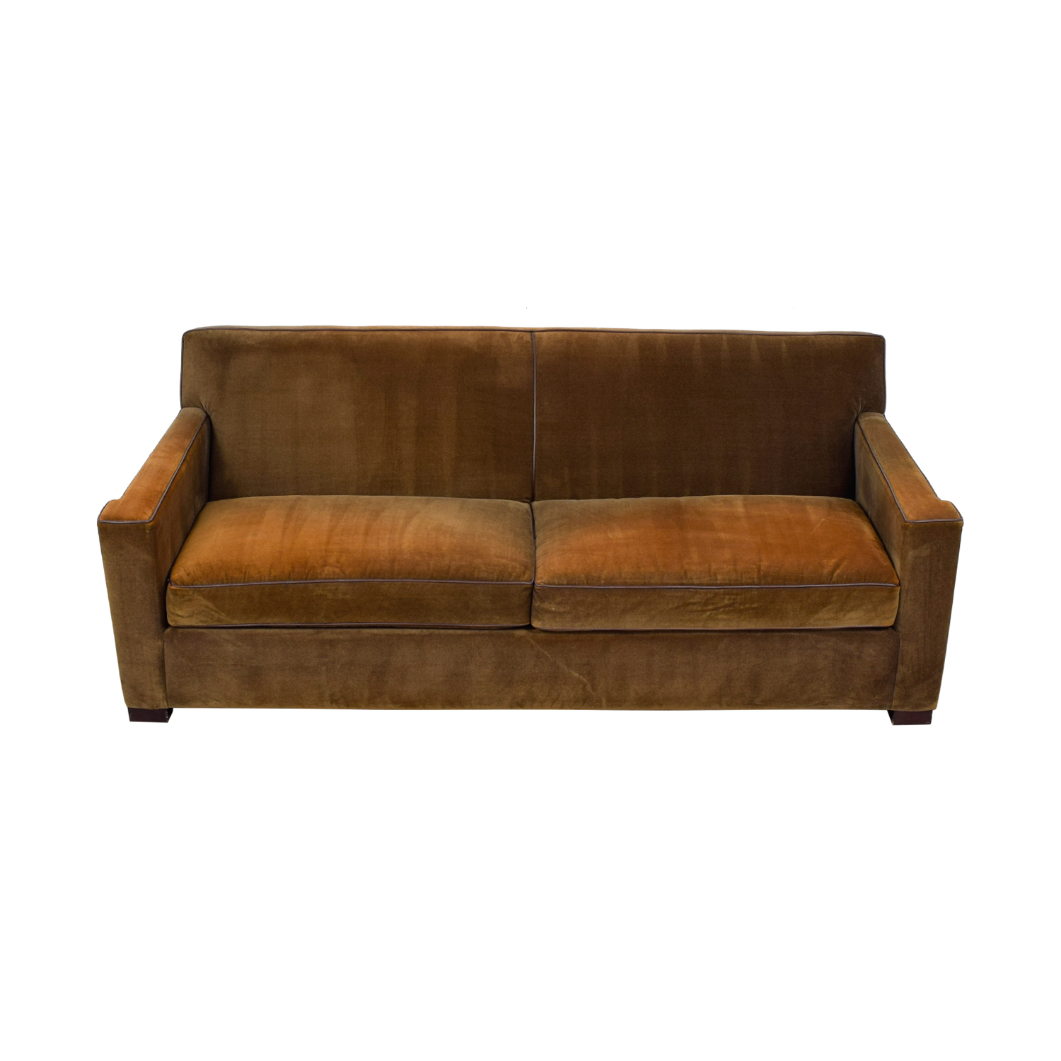 Crate & Barrel Chocolate Brown Sofa sale