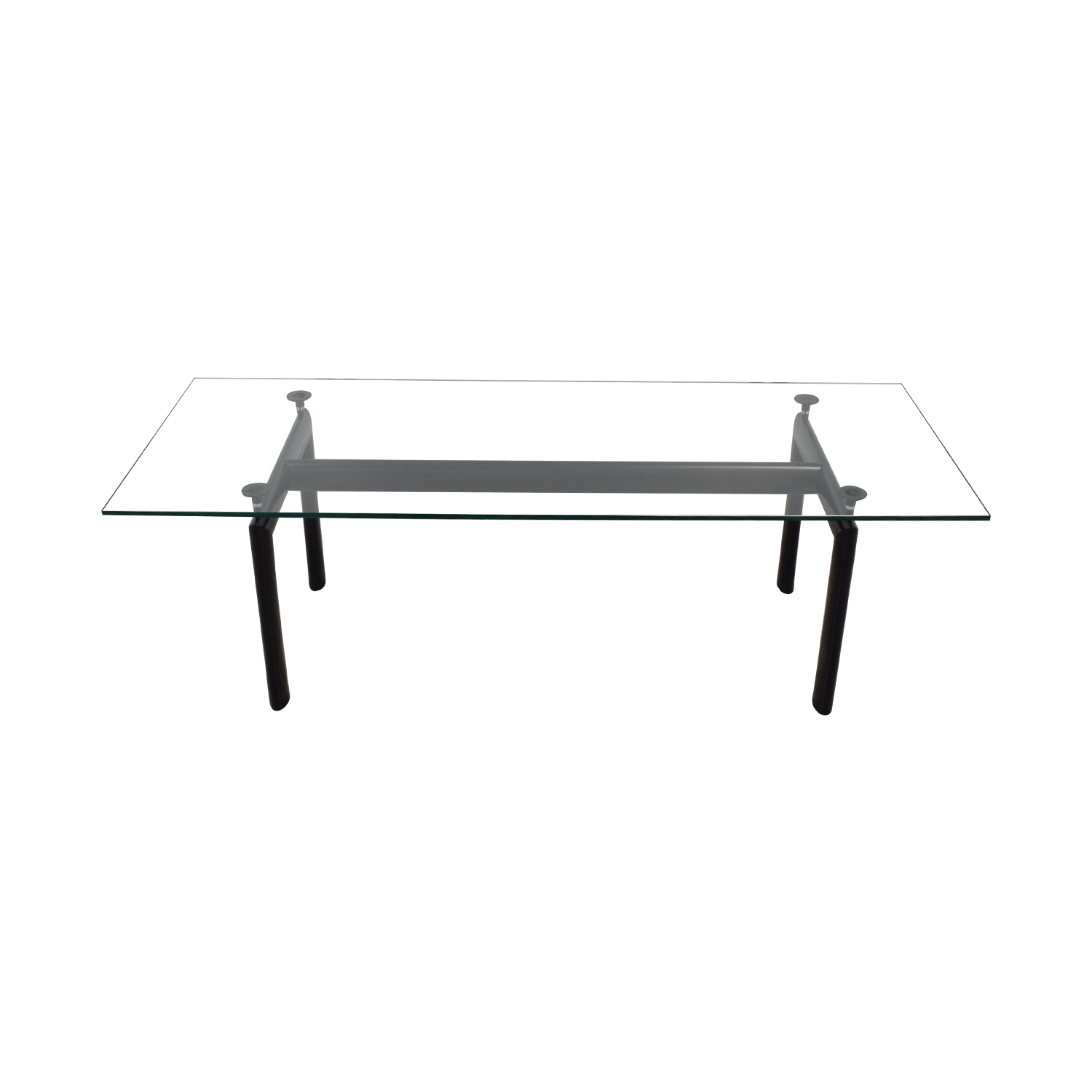 ... Design Within Reach Design Within Reach Cassina Le Corbusier Glass  Dining Table Black/Glass ...