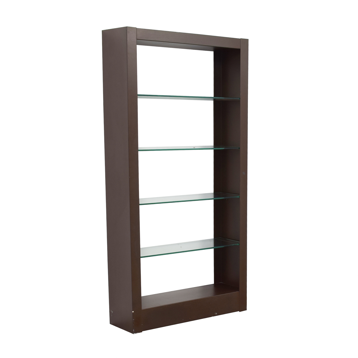 Wood and Glass Bookcase / Bookcases & Shelving