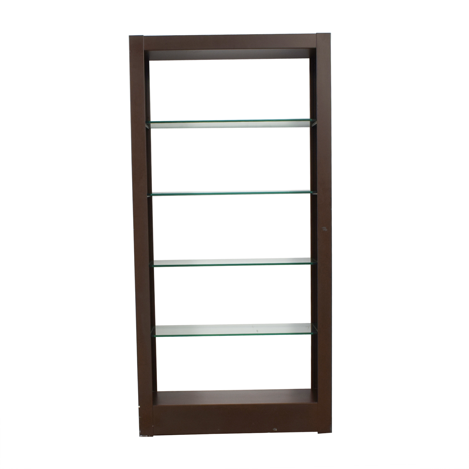 Wood and Glass Bookcase nyc