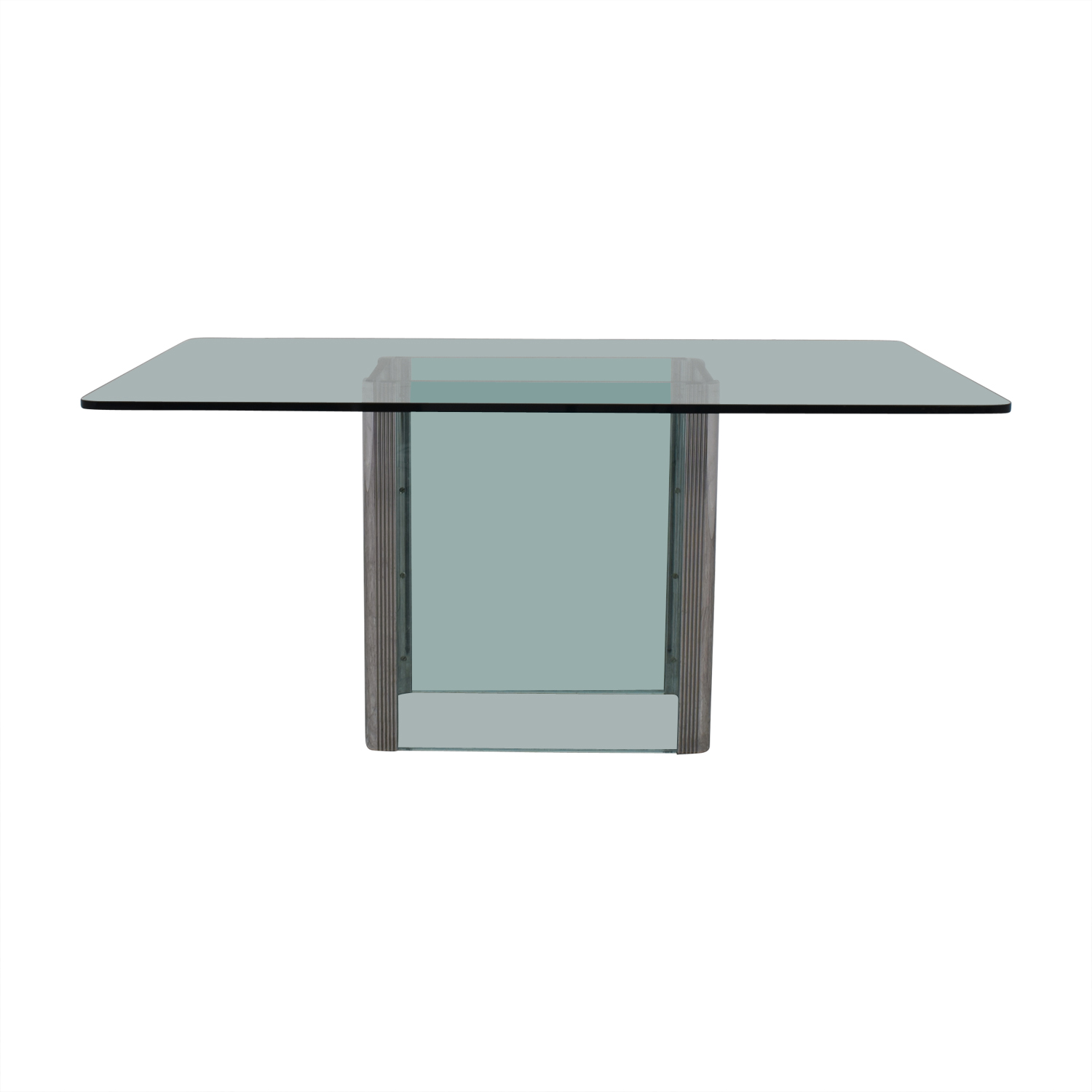 buy Glass and Chrome Dining Table