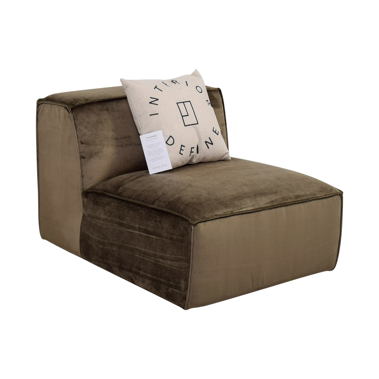 Magnificent 62 Off Gold Brown Armless Accent Chair Sofas Alphanode Cool Chair Designs And Ideas Alphanodeonline