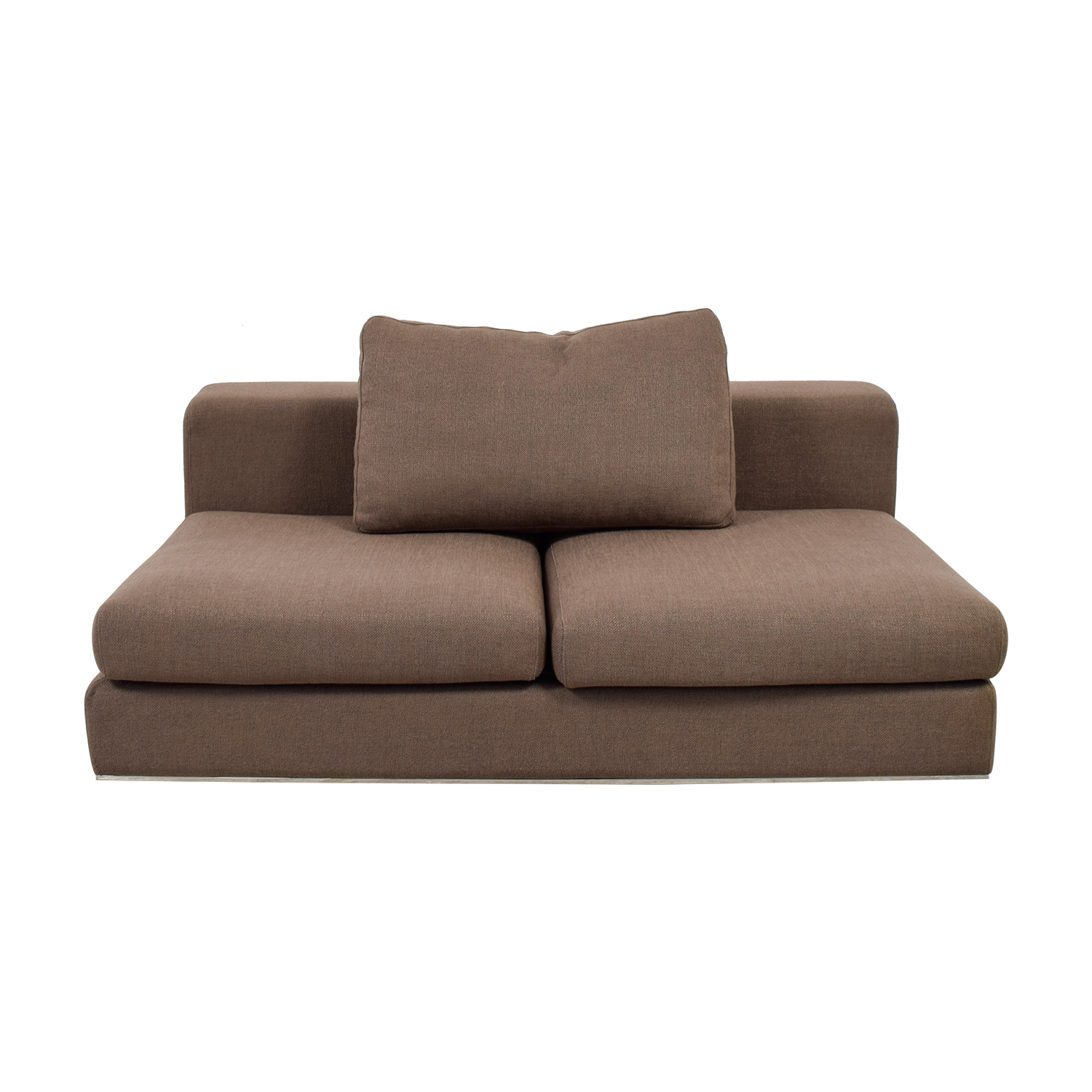 Walters Brown Armless Sofa Brown