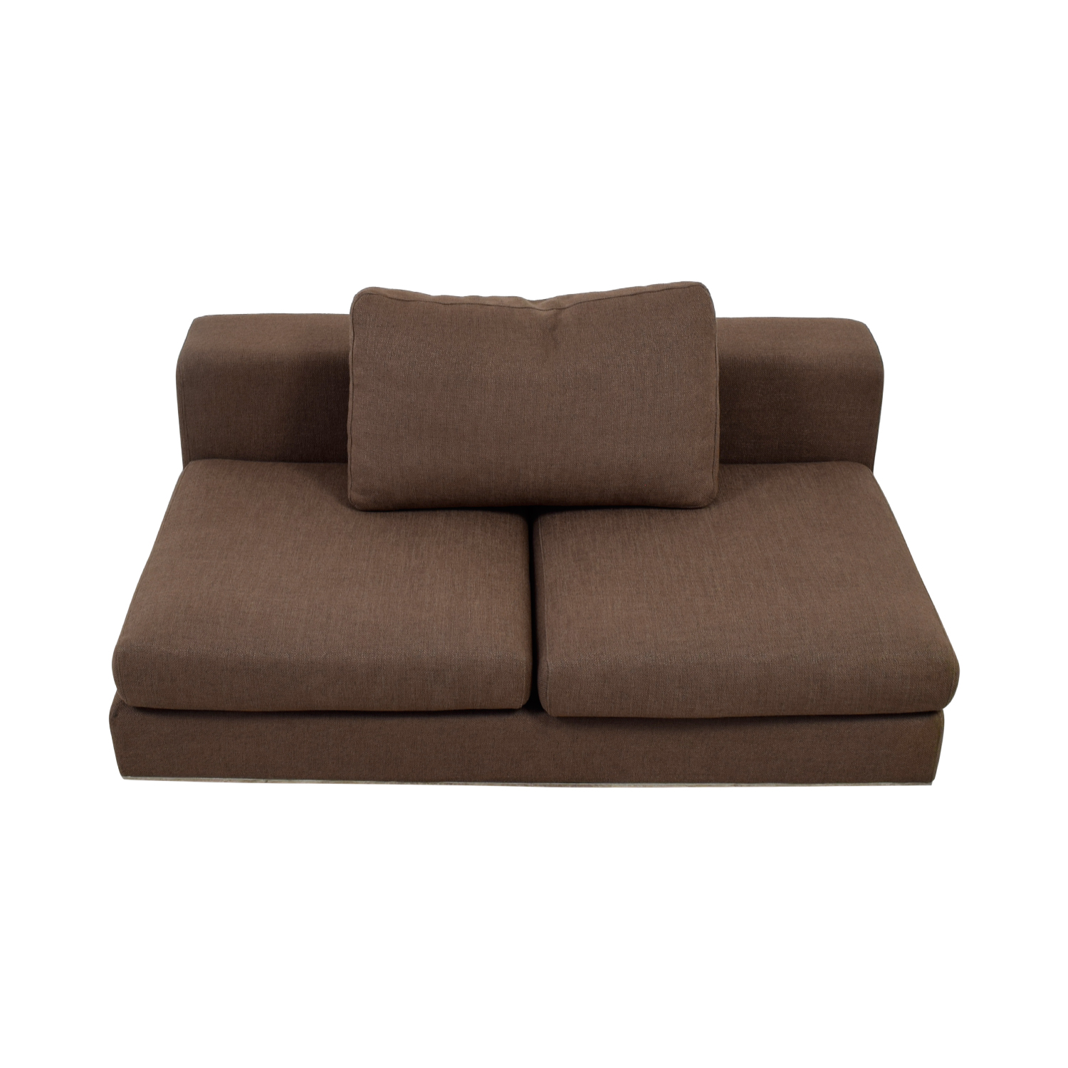 Walters Brown Armless Sofa discount