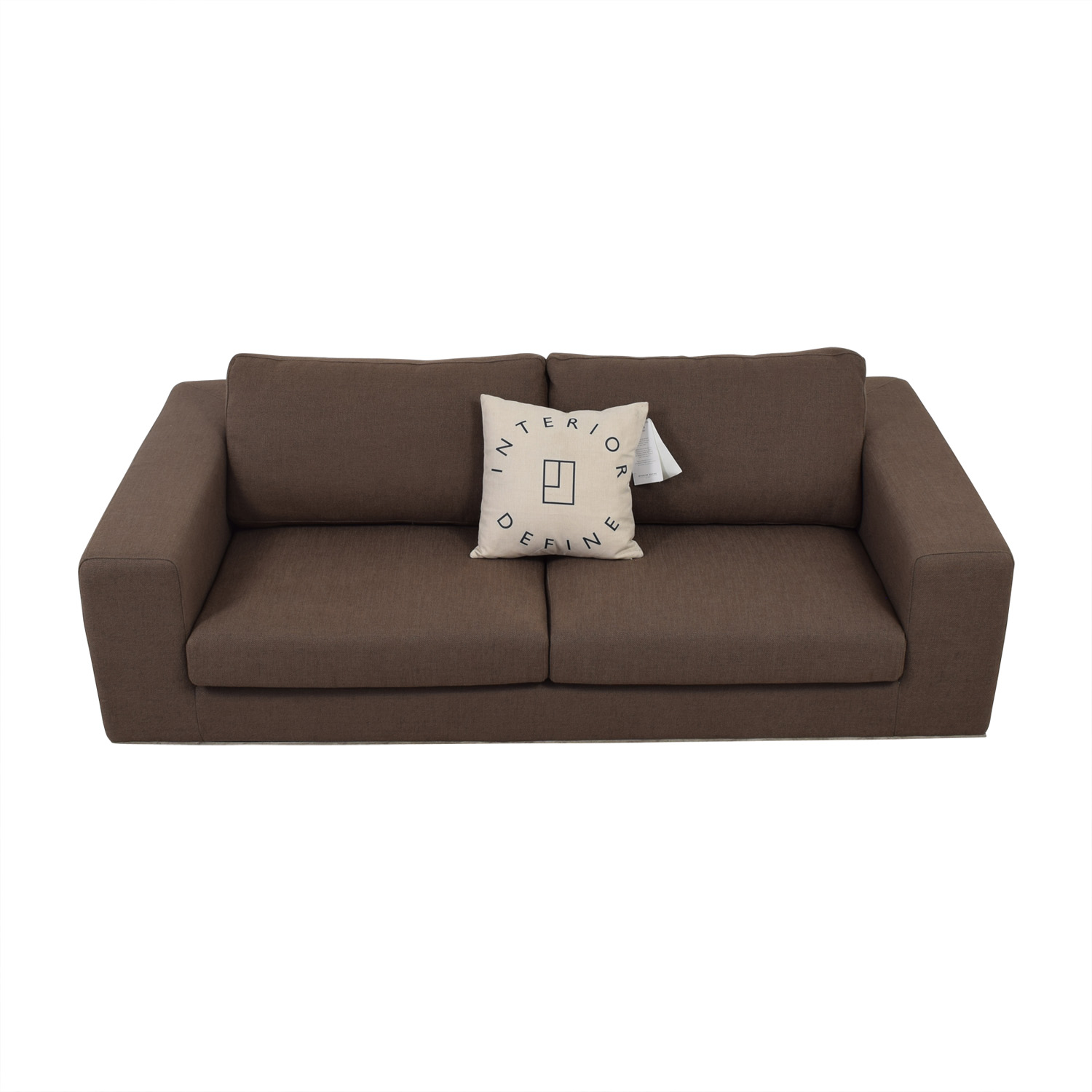 Walters Brown Two-Cushion Sofa nyc