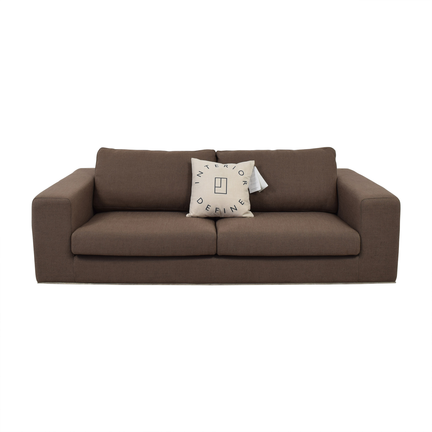 Walters Brown Two-Cushion Sofa second hand