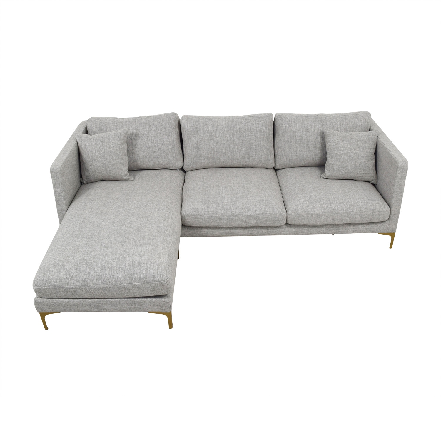 shop Oliver Grey Reversible Chaise Sectional