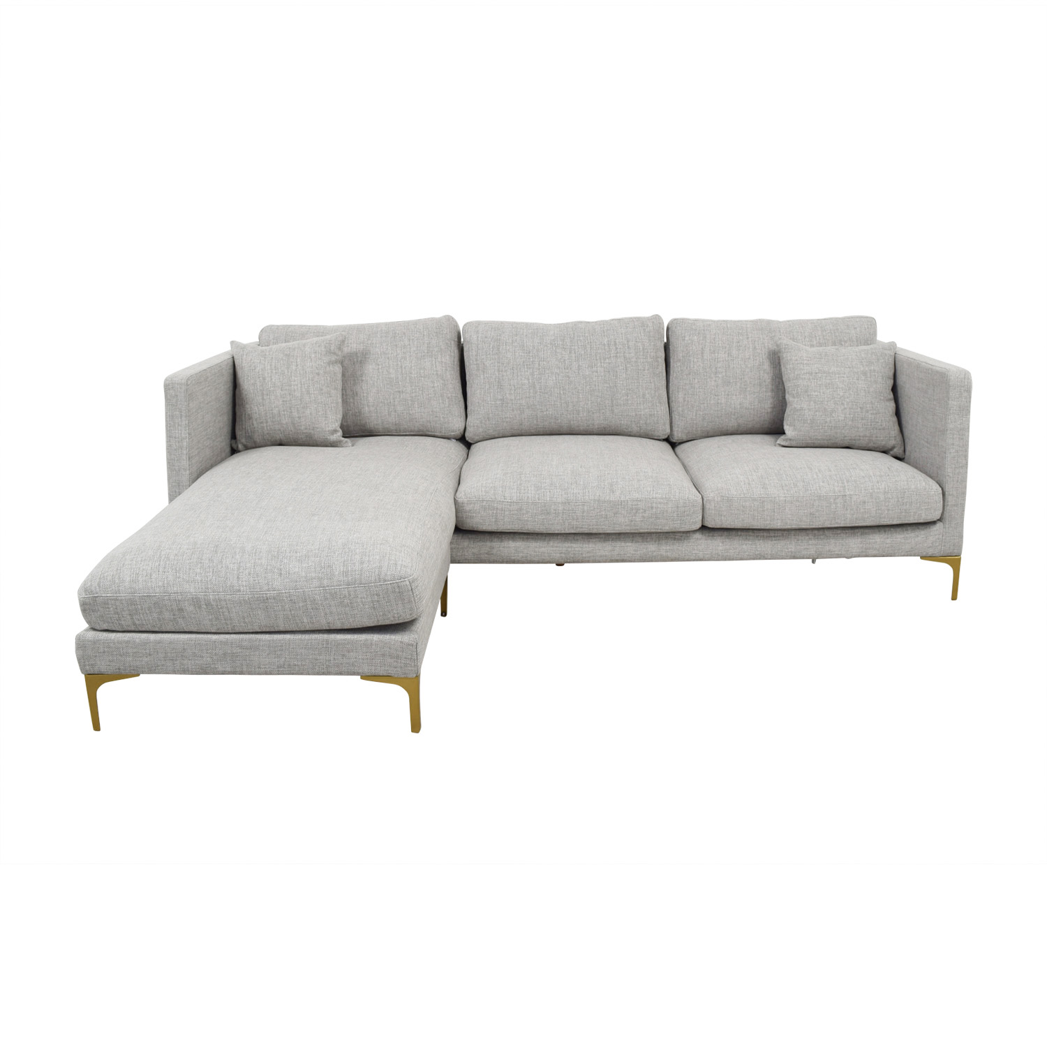 buy Oliver Grey Reversible Chaise Sectional  Sofas