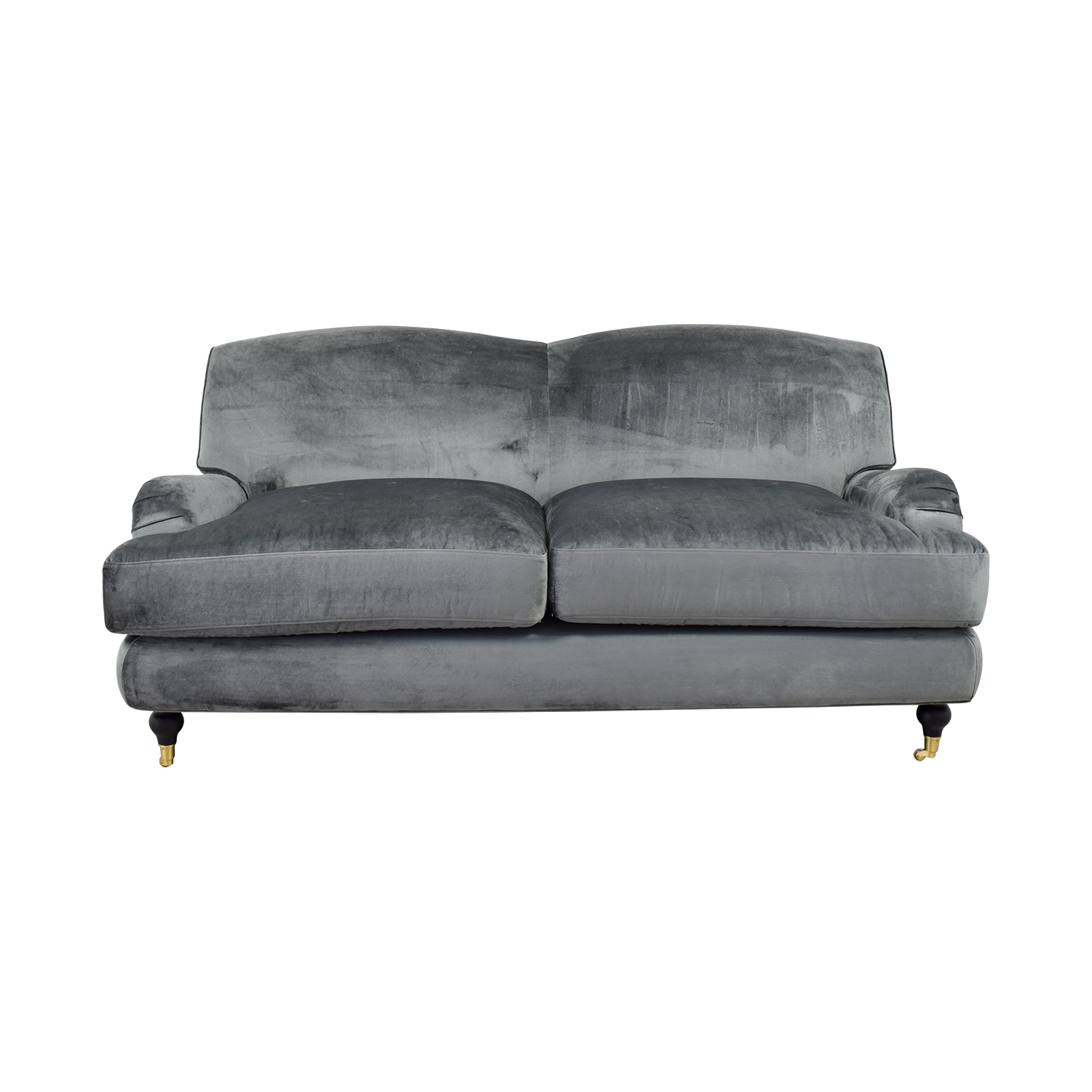 Rose Gray Microfiber Sofa sale