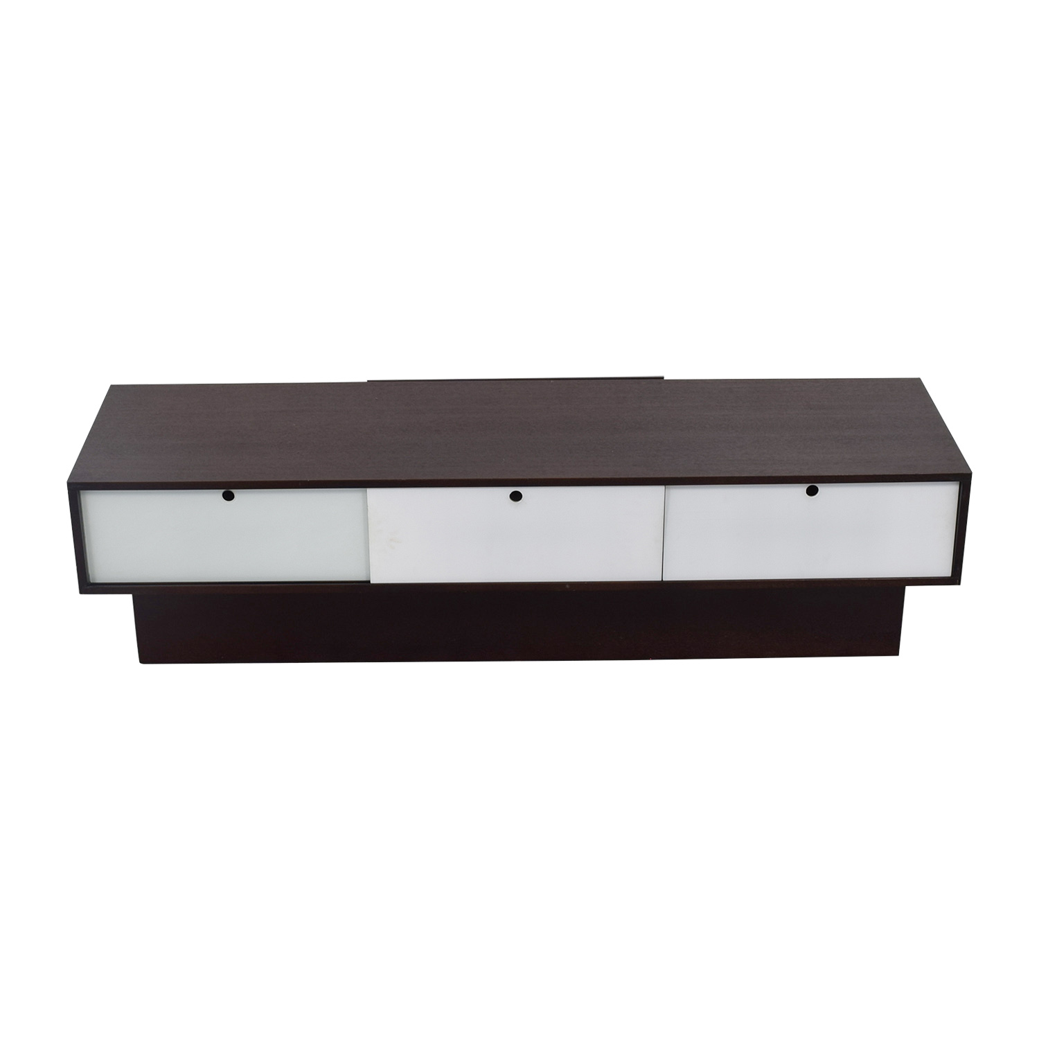buy Sitcom Lisbon White Glass and Cherry Wood Plasma Base Sitcom Media Units