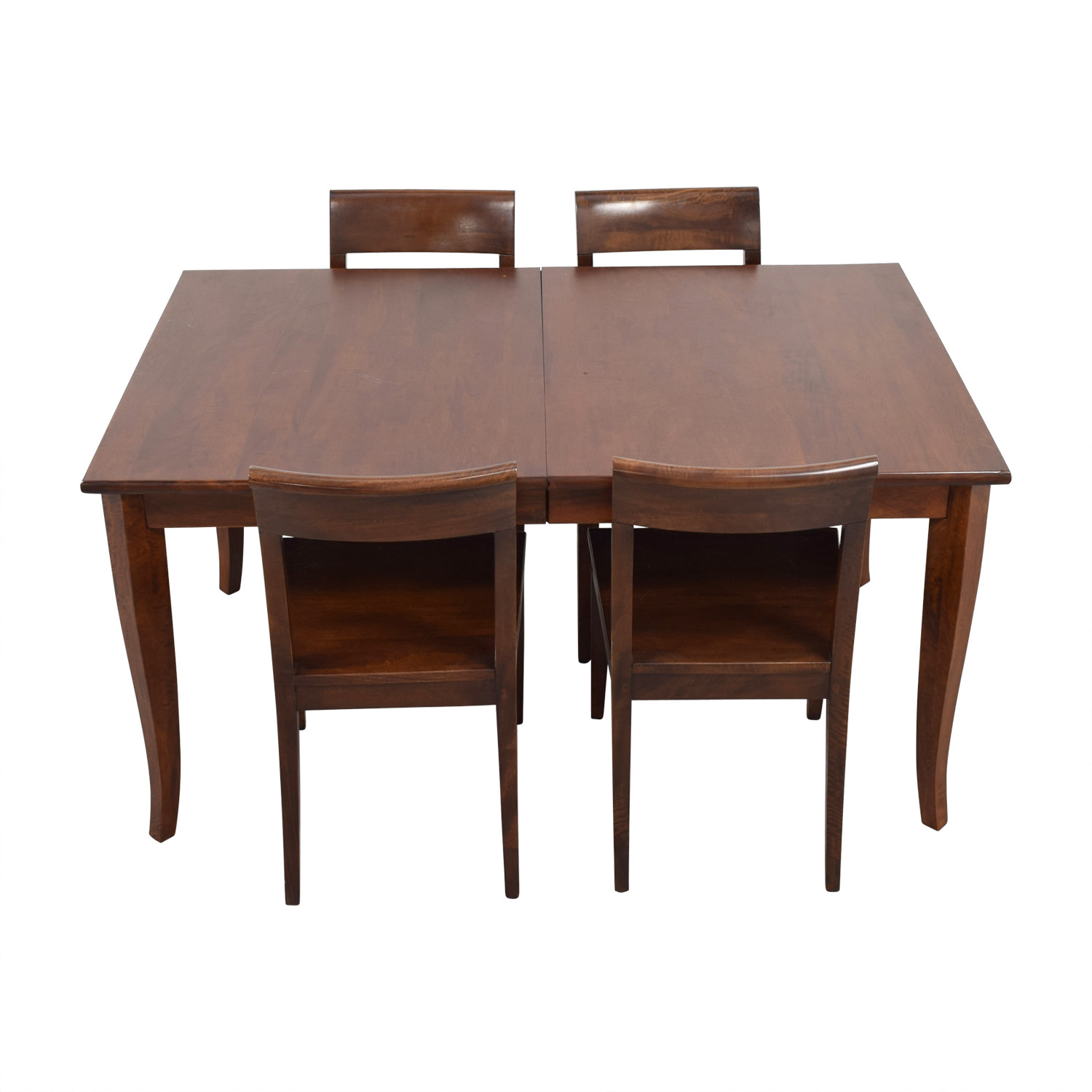 Crate & Barrel Crate & Barrel Cabria Extendable Dining Set for sale