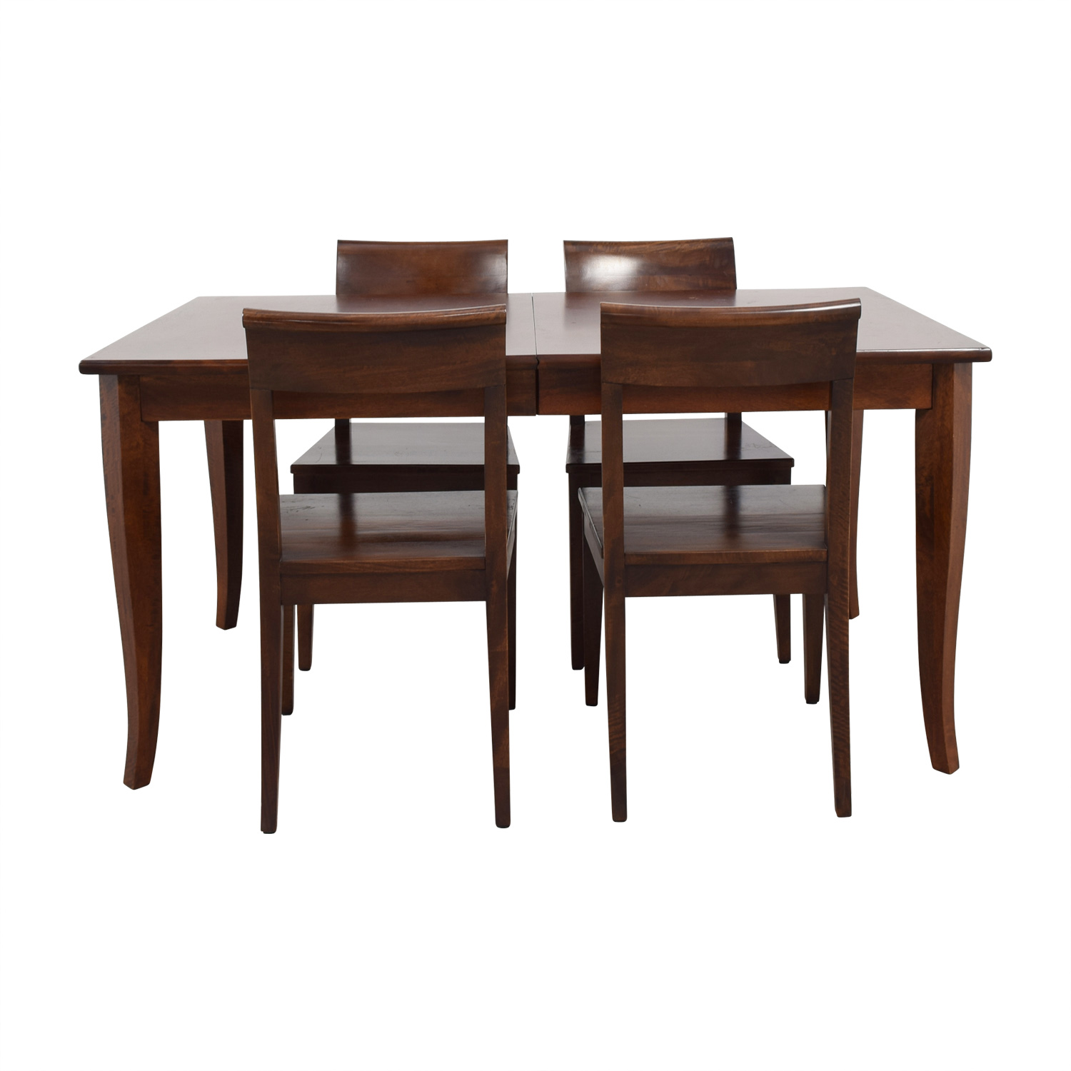 Crate & Barrel Crate & Barrel Cabria Extendable Dining Set second hand