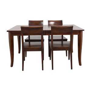 Crate & Barrel Crate & Barrel Cabria Extendable Dining Set coupon