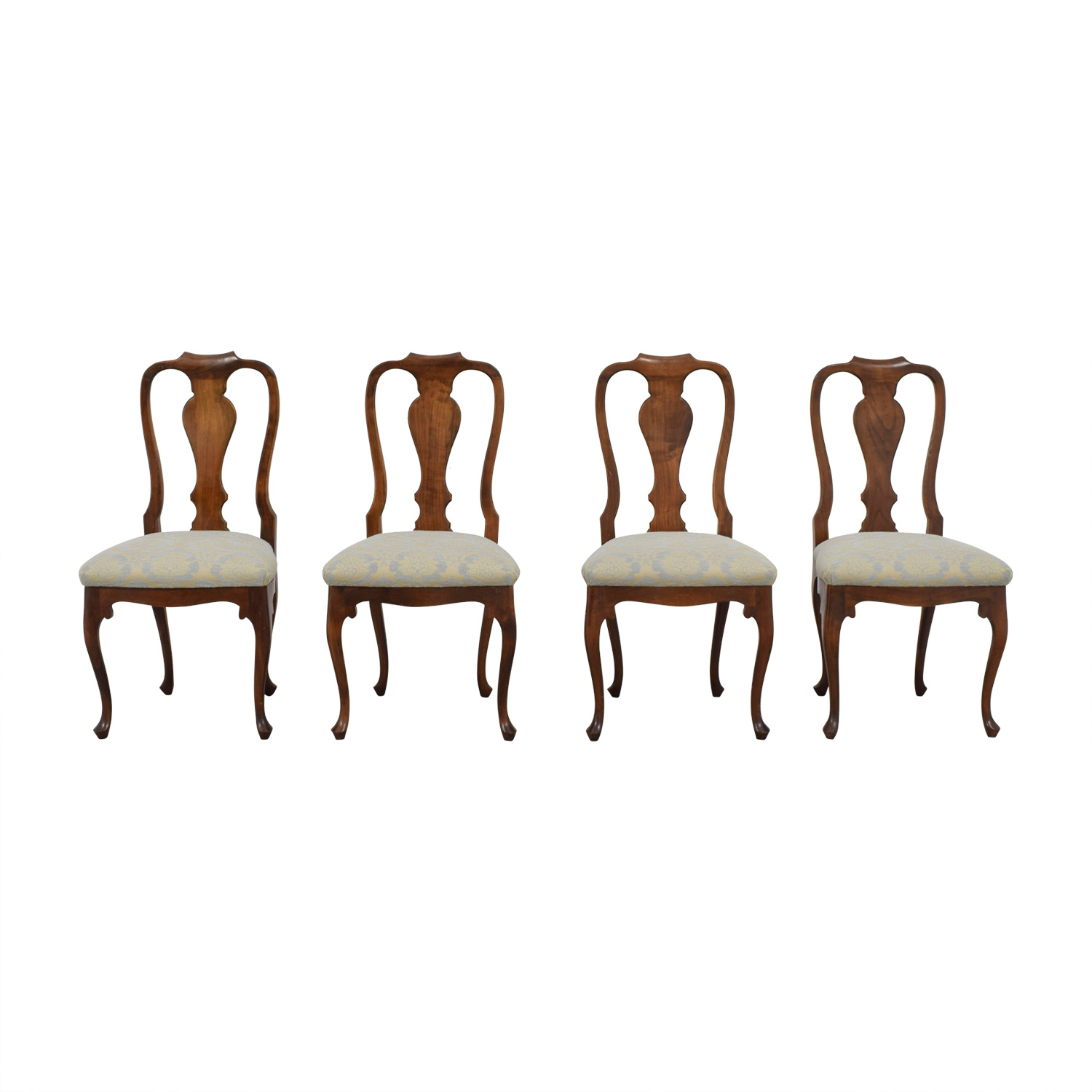 Antique Beige and Grey Hardwood Dining Chairs coupon
