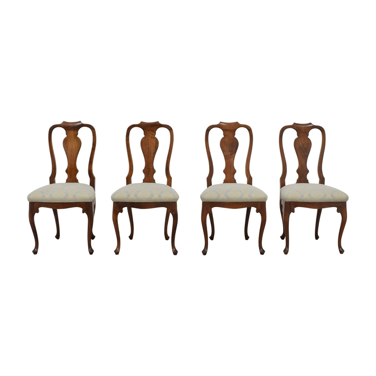 Antique Beige and Grey Hardwood Dining Chairs nj