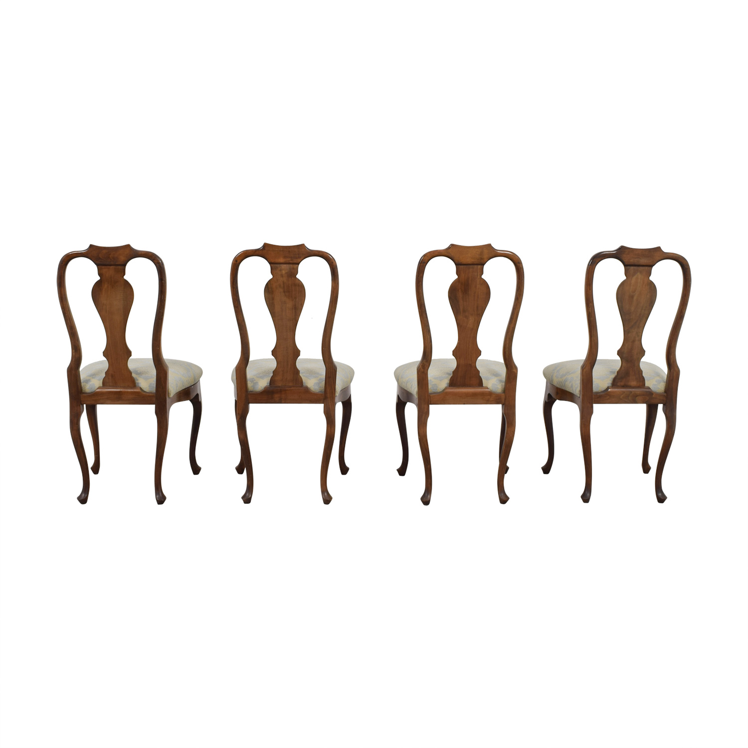 Antique Beige and Grey Hardwood Dining Chairs nyc