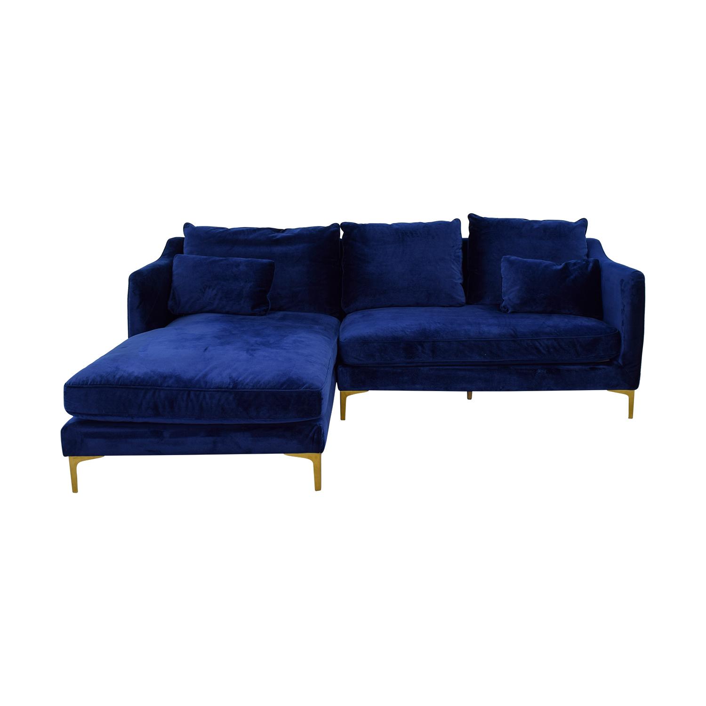 Caitlin Oxford Blue Left Chaise Sectional nj