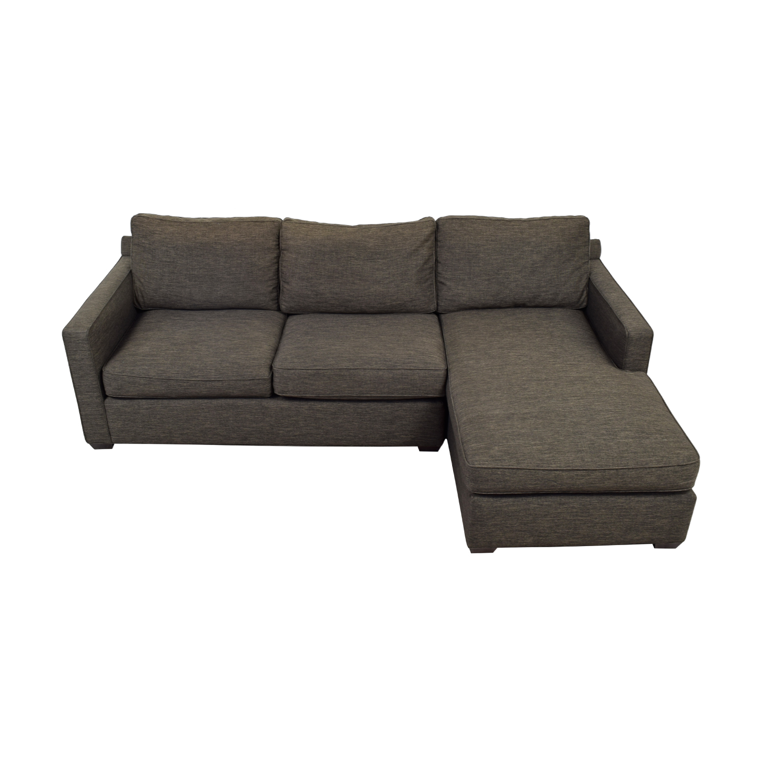shop Crate & Barrel Davis Three Seat Lounger Sectional Sofa Crate & Barrel Sofas