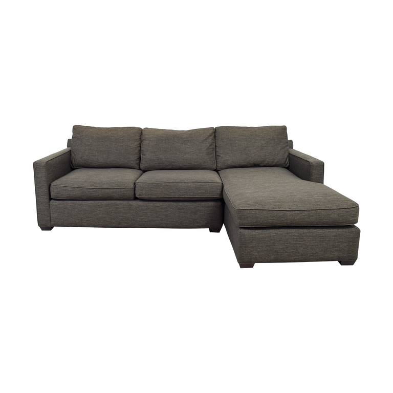 Crate & Barrel Crate & Barrel Davis Three Seat Lounger Sectional Sofa nj