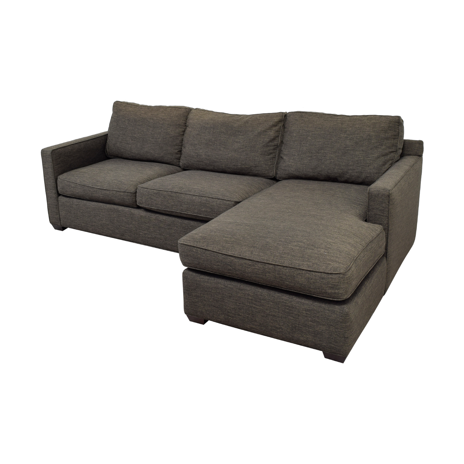 Crate & Barrel Davis Three Seat Lounger Sectional Sofa / Sectionals
