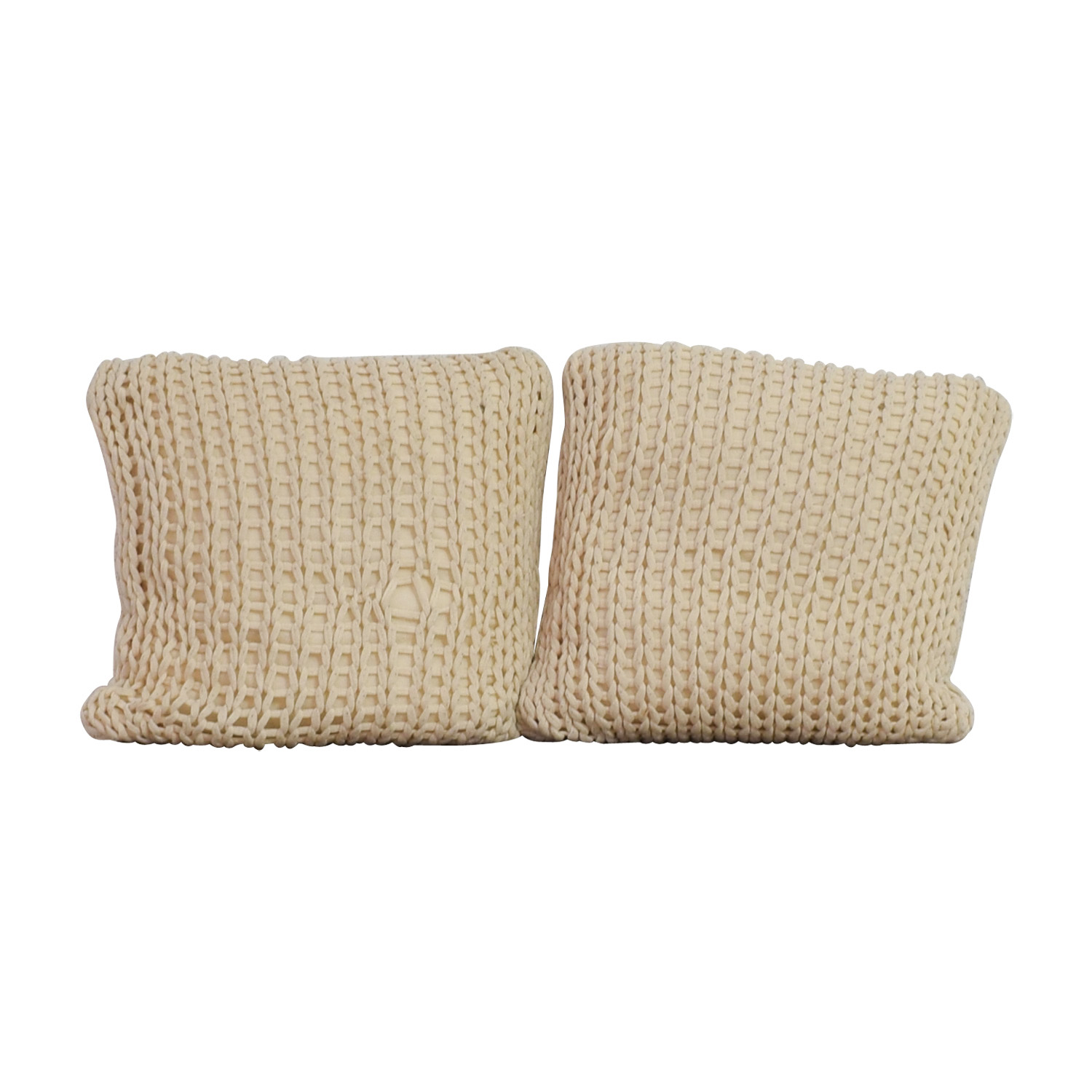 buy Crate & Barrel Ivory Holden Pillows Crate & Barrel