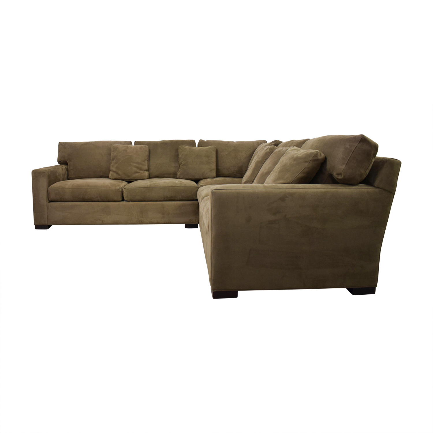 Crate & Barrel Axis II Brown L-Shaped Sectional / Sectionals
