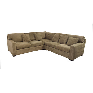 buy Crate & Barrel Axis II Brown L-Shaped Sectional Crate & Barrel